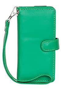 Senzoni Pu Leather Mobile Pouch Wallet Case Cover With Magnetic Look For Lava Iris Win 1