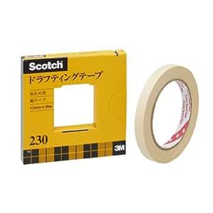 3M スコッチ ドラフティングテープ 12mm×30m カッター付 紙箱入り 230-3-12