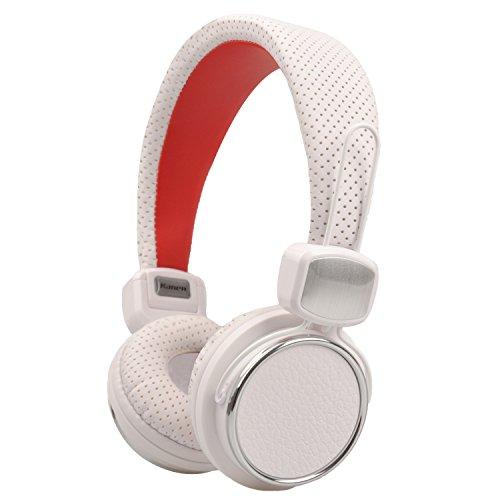 Headphones, Biensound 850 Stereo Lightweight Foldable Headphones Adjustable Headband Headsets with Microphone 3.5mm for Cellphones Smartphones Iphone Laptop Computer Mp3/4 Earphones (White)