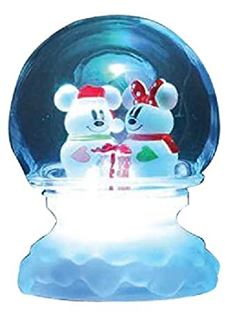 Disney acrylic LED Mickey Minnie dome winter snow