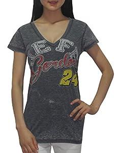 NASCAR Jeff Gordon #24 Ladies V-Neck T-Shirt (Vintage Look) by NASCAR