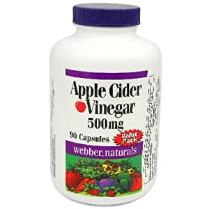 [$7 save 46%] Webber Naturals 71383 Apple Cider Vinegar Capsules, 500mg: Amazon.ca: Health ...