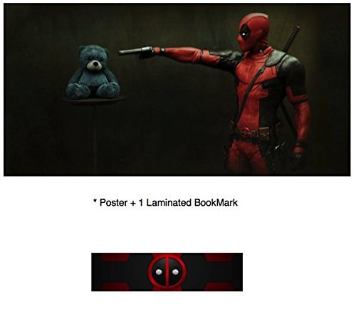 Old Tin Sign poster(14x10inch)DeadPool 12 Finish Ryan Reynolds Morena Baccarin PLUS 1 Laminated Bookmark