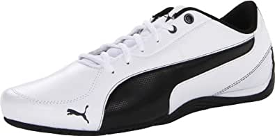 PUMA Men's Drift Cat 5 Leather Sneaker,White/Black,7 D US