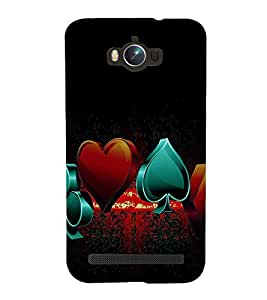 printtech Cards Logo Back Case Cover for Asus Zenfone Max ZC550KL