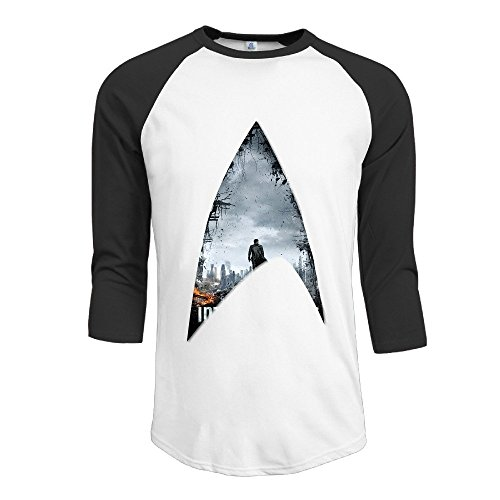 [Yesher Men's Special American Science Fiction Action Film Round Neck Jersey Baseball T-Shirt - Black] (Ghana Costume For Boys)