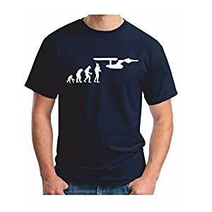 Mens Navy STAR TREK EVOLUTION - T Shirt - USS Enterprise