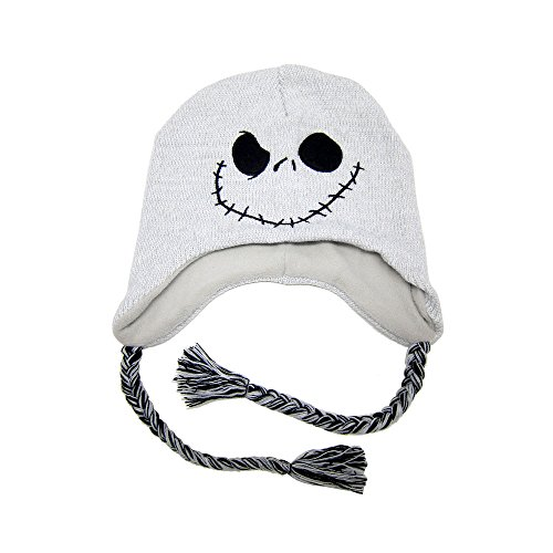 The Nightmare Before Christmas Jack Skellington Knit Beanie Laplander Hat