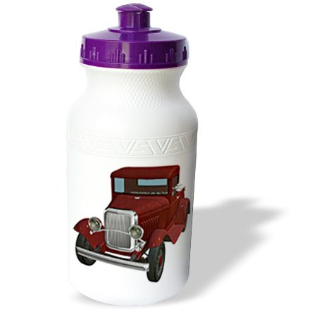 Wb_179984_1 Boehm Graphics Car - A Classic Red Pickup Truck - Water Bottles