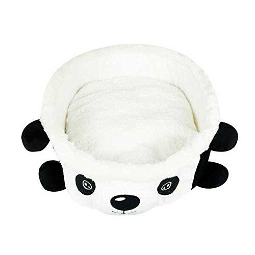 Soft Cartoon Panda Bowl Pet House Kennel Bed