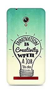 Amez Innovation is Creativity with a Job to do Back Cover For Asus Zenfone Go ZC500TG