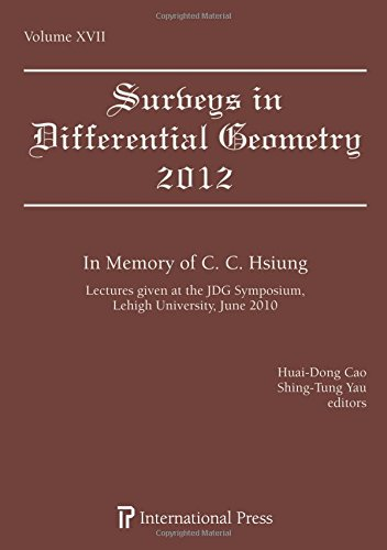 Surveys in Differential Geometry, Vol. 17 (2012): Algebra and Geometry: In Memory of C. C. Hsiung