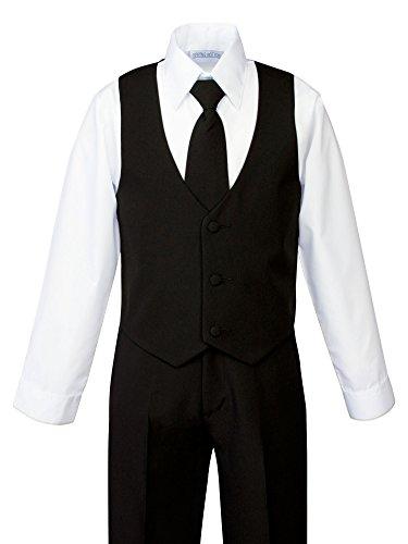 Spring Notion Boys' Formal Black Dress Suit Set