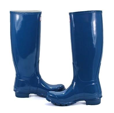 Women's Hunter Original Tall Rain Boot W23616 Feather Blue (WOMEN 8M/9F, Feather Blue)