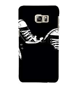 PrintVisa Cool Shoes Design 3D Hard Polycarbonate Designer Back Case Cover for Samsung Galaxy S6 Edge+ Plus