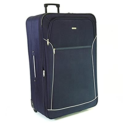 Karabar Super Lightweight Suitcases - 3 Years Warranty! (Navy 32 Inch)