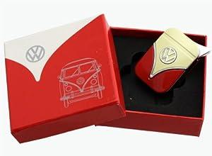 Original Volkswagen Feuerzeug im Frontschild Design - in verschiedenen Farben - Geschenkset (VW-Bulli-rot-gelb)