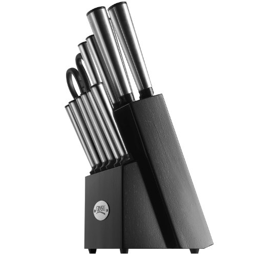 Ginsu Koden 14-piece Stainless Cutlery Set With Black Block