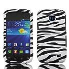 Samsung Zebra Design Faceplate Hard Phone Case Cover for Straight Talk Samsung Galaxy Proclaim 720C SCH-S720C
