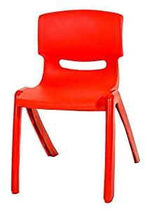 Red Kids Children High Quality Easy Stackable Plastic Chair Indoor Outdoor Use