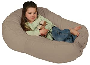 Leachco Pillay Plush Sling-Style Lounger, Latte from Leachco