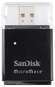 Sandisk MicroMate SD / SDHC Memory Card Reader (Static Pack, New, SDDR-113)