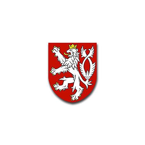 Aufkleber / Sticker -Böhmen Tschechische Republik Böhmische Krone Löwe Wappen Abzeichen Emblem passend für VW Golf Polo GTI BMW 3er Mercedes Audi Opel Ford (7x6cm)#A1521
