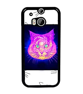 PrintDhaba Cat D-3465 Back Case Cover for HTC ONE M8s (Multi-Coloured)