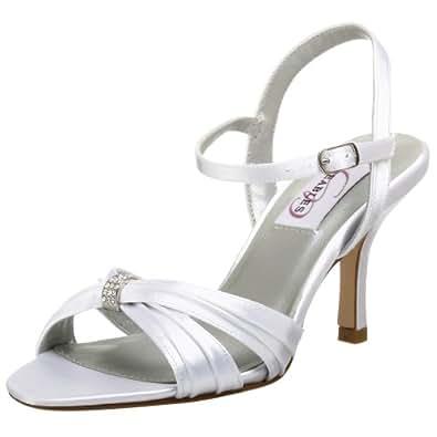 Dyeables Women's Natalie Sandal,White,5 M