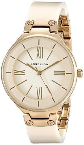 Para mujer AK Anne Klein/1958ivgb dorado-tono y brazalete marfil reloj figura decorativa