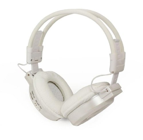 Towallmark 1Pc White Portable Foldable Wireless Headphone Headset