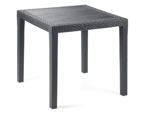 IPAE-PROGARDEN - Tavolo da giardino con rivestimento ad effetto intrecciato KINGAN