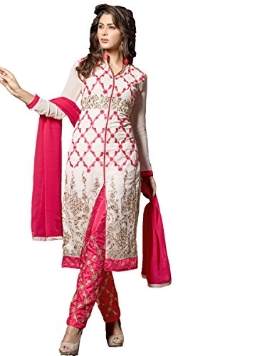 Shanvi Turquoise Cotton Unstitched Women S Printed Churidar Dress