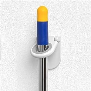 Spectrum Mop & Broom Holder Color: White 2 Pack