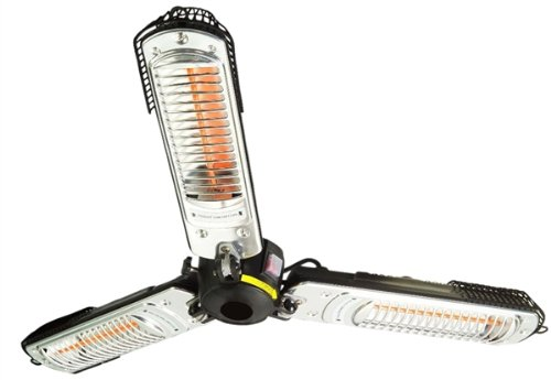 Quality Branded Prem-I-Air 2000W Halogen Quartz Parasol Patio Heater (Folds Down)