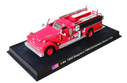 Seagrave 70th Anniversary Series - 1952 diecast 1:64 fire truck model (Amercom SF-19)