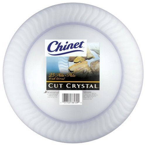Chinet Cut Crystal Dinner Plates (10-Inch), 100-Count Plates