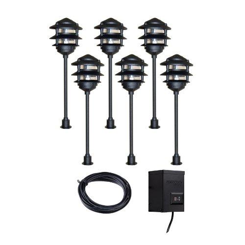 Portfolio Landscape Lighting Transformer Manual : Portfolio light black low voltage incandescent path lights landscape