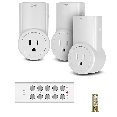 Etekcity 3 Pack Wireless Remote Controlled Electrical Switch Socket Outlet with Remote (Battery Included) For lamps, lights and power strip