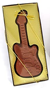Easter Basket, Filler, Gift Alternative, Musical Solid Milk Chocolate Electric Guitar Design