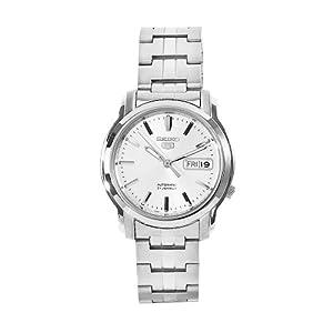 Seiko Men's SNKK65 5 Stainless Steel Siver Dial Watch
