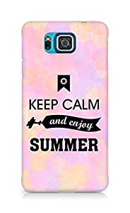 Amez Keey Calm and Enjoy Summer Back Cover For Samsung Galaxy Alpha