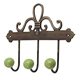 Handmade IndianShelf Lime Green Crackle Hooks Ceramic Iron Cabinet Mugs Key Coat Hat Clothes Holder Online