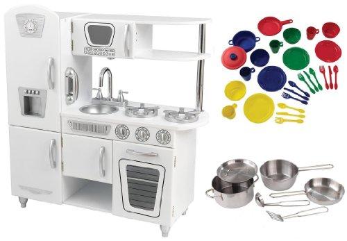 Kidkraft White Vintage Kitchen Pots & Pans Set W Primary Color