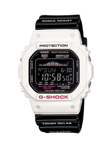Casio Men's GWX5600B-7CR G-Shock Solar Atomic Multi-Function Digital White and Black Watch