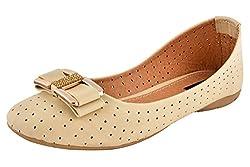 Shopoholics Womens Cream Napa Leather Bellies 1279-C1 8 UK