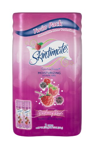 Skintimate Signature Scents Moisturizing Shave Gel for Women Raspberry Rain with Vitamin E and Olive Butter - 7 Ounce Twin Pack (Raspberry Skin Cream compare prices)