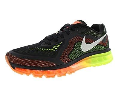 Nike Air Max 2014 Mens Black/Sail/Atomic Orange/Volt Running Sneakers