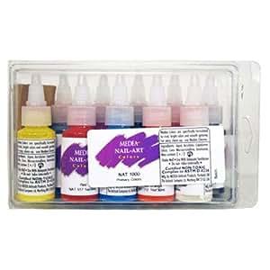 Medea 10 Primary Colors Basic Nail Paint Medea Nail Art Color Set