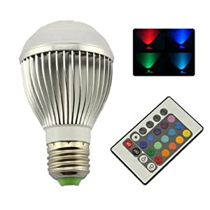 9W E27 LED RGB Light Colorful Bulb Lamp + Remote with 2 Million Colors Changing